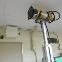 X線発生器設置状況(壁)