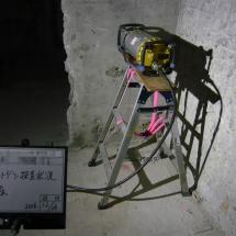 X線発生器設置状況(床)